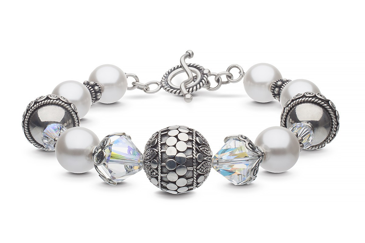 Made to order bracelet. Stainless Steel Bracelet Black Pearl Bracelet